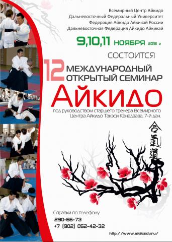 Семинар по Айкидо Сихана Такеши Канадзава во Владивостоке