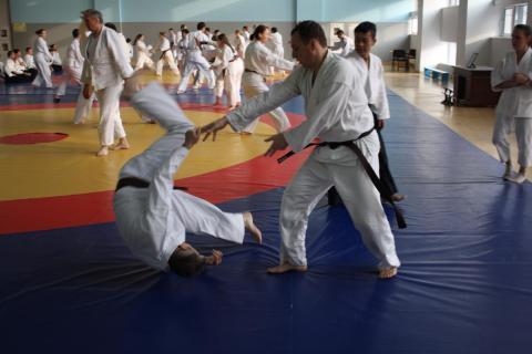 Без умения падать не получится выполнить эффективную технику Айкидо